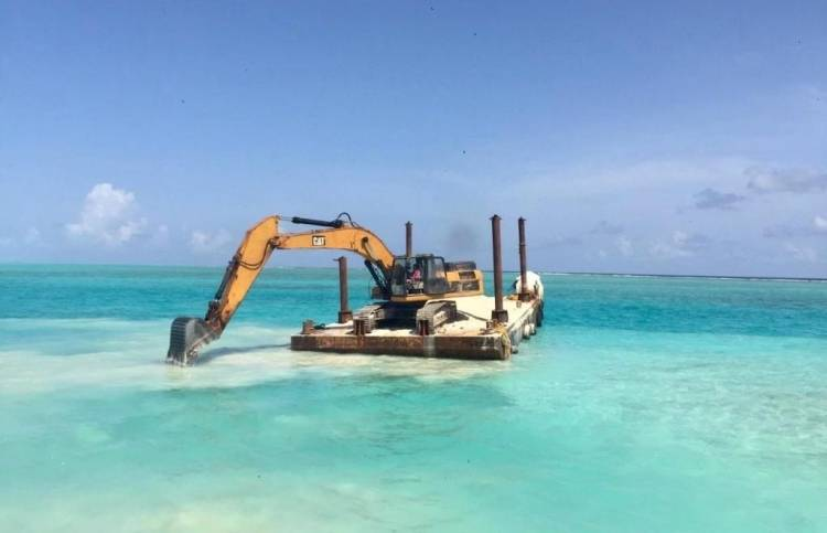 Phase two of Kelaa harbour construction underway: MTCC