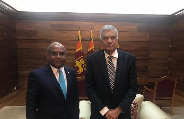 Foreign Minister Shahid meets with Prime Minister of Sri Lanka