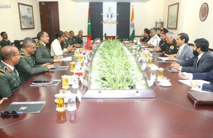 Indian Army Chief holds discussions with MNDF