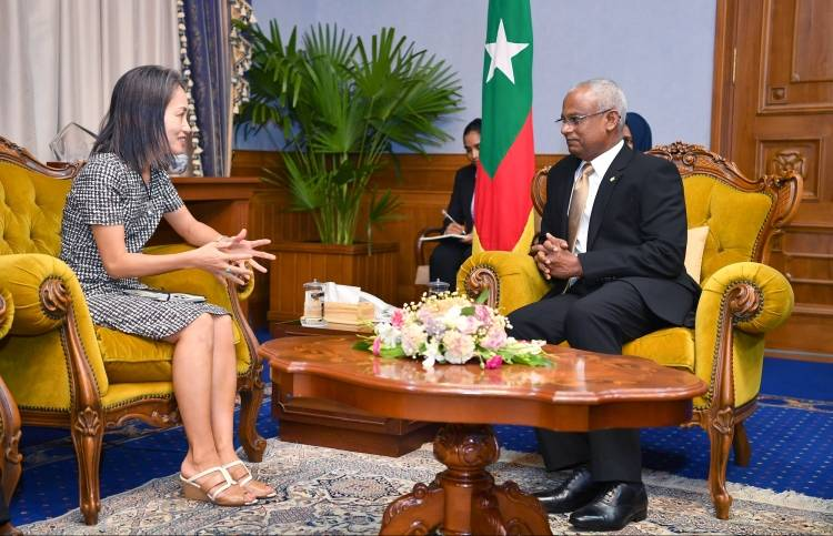UN Resident Coordinator pays farewell call on President Solih