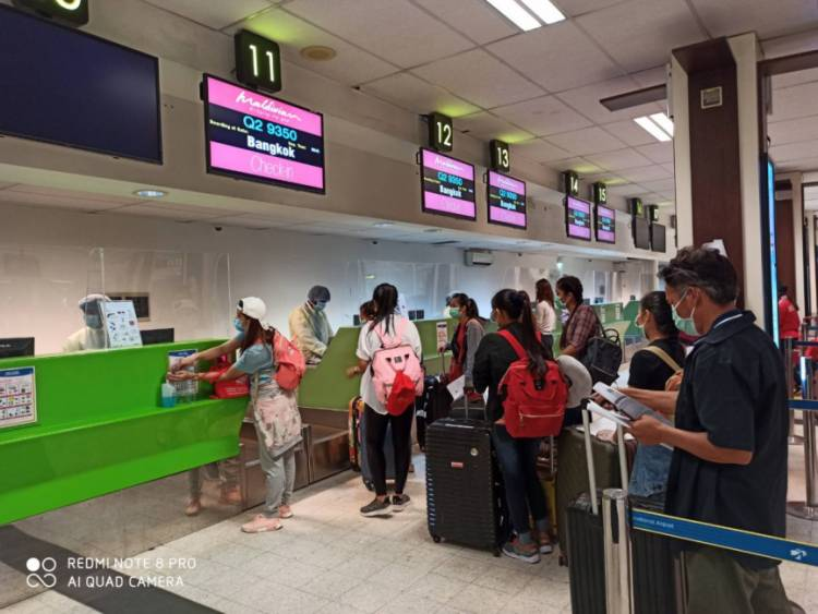 131 Thai nationals evacuated from Maldives