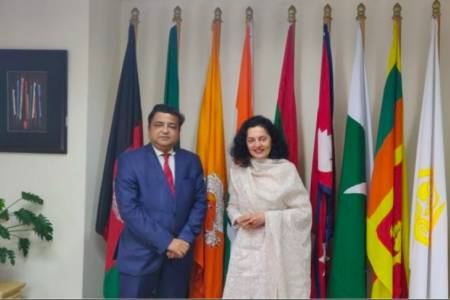 Indian ambassador to Bhutan visits SDF Secretariat
