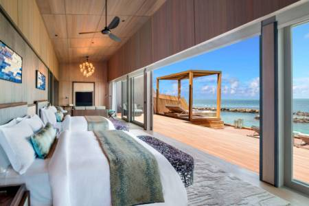 FOR a holiday of ultimate luxury, you can stay at the biggest overwater villa in the Maldives - if you have £19,000 per night to spare.
