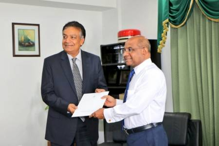 Minister Shahid presents Exequatur to Honorary Consul Sanjay Bansal