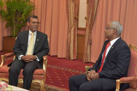 President Solih congratulates new parliament speaker Nasheed