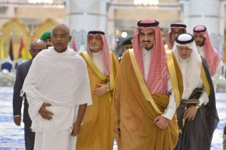 President Solih receives warm welcome from Saudi