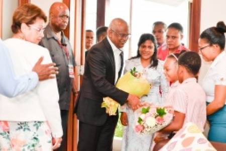 President, First Lady return after Seychelles visit