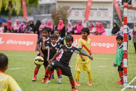 Dhiraagu hosts Pre-School Football Festival 2019