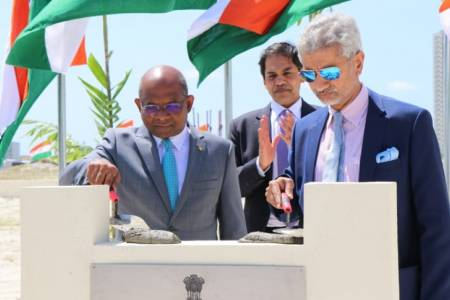 Foundation for new Indian Embassy building laid in Hulhumale