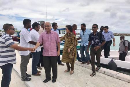 Ambassador of India to Maldives visited Kaafu Maafushi Island