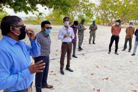 Senior govt. officials visit virus-hit Narudhoo
